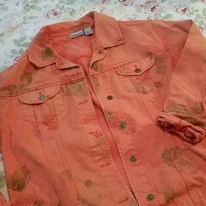 Chico orange denim jacket